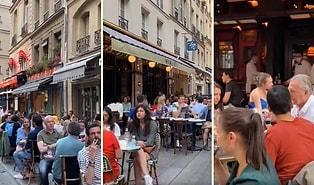 Normalleşme Sürecine Giren Fransa'da İnsanlar Sosyal Mesafeye ve Maske Kullanımına Uymadan Kafelere Akın Etti