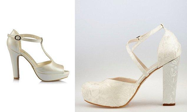 11. Gelinliğin altına hoş duran ama bir o kadar da rahat bir ayakkabı şart!