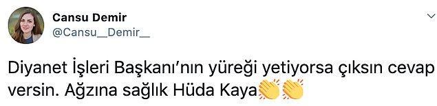 Hüda Kaya'nın açıklamaları, sosyal medyanın gündemindeydi...