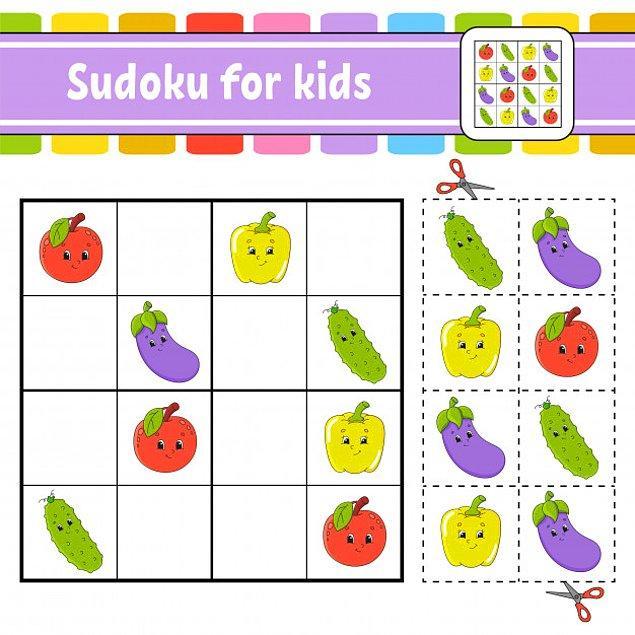 8. Çocuklar için Sudoku