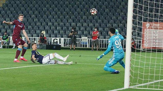 6. dakikada Sörloth'un attığı golle Trabzonspor, Kadıköy'de 1-0 öne geçti.