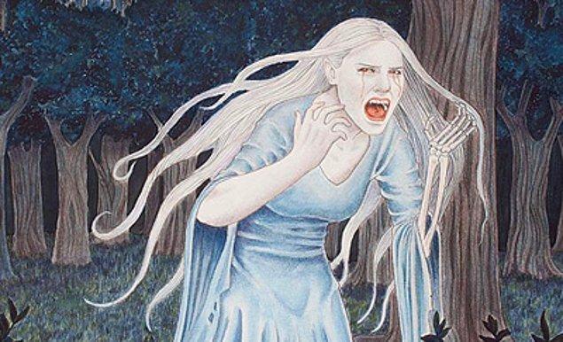 4. İrlanda mitolojisinde yer alan 'banshee'  sürekli feryat edip ağlayan bir yaratıktır. İnsanların, ailesinden yakın biri  öleceği zaman bu yaratığın sesini duyduğu iddia edilir.