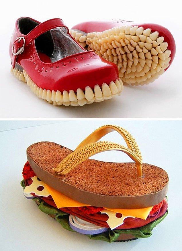 7. Bir ayakkabı da insanın midesini bulandırabiliyormuş demek ki...