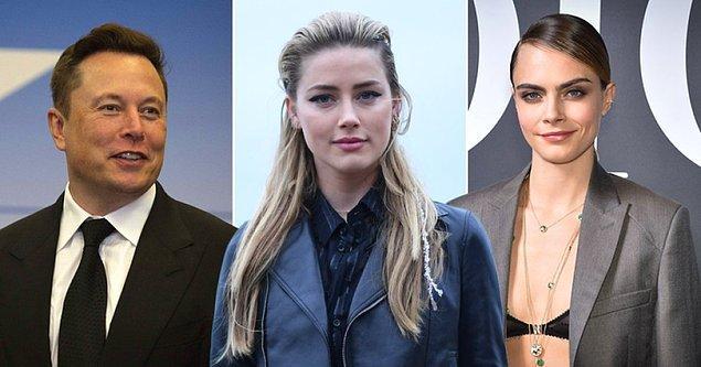 Depp'in iddialarına göre Amber Heard, henüz kendisi ile evliyken milyarder girişimci Elon Musk ve ünlü model Cara Delevingne ile üçlü ilişki yaşamış.