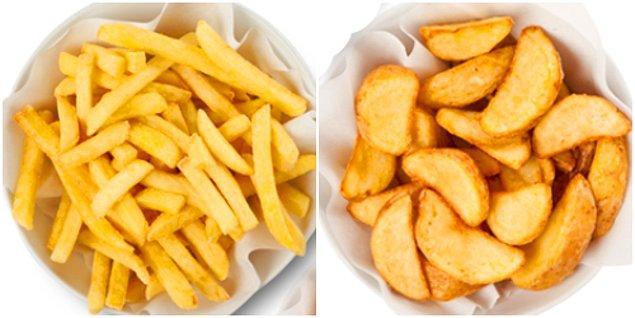 7. Parmak Patates / Elma Dilim Patates