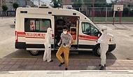 Koronavirüs Tedavisi Gören Gençler LGS'ye Ambulans ile Götürüldü
