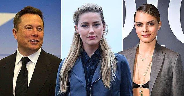 Daha sonra da Amber Heard, henüz kendisi ile evliyken milyarder girişimci Elon Musk ve ünlü model Cara Delevingne ile üçlü ilişki yaşadığını iddia etmişti.