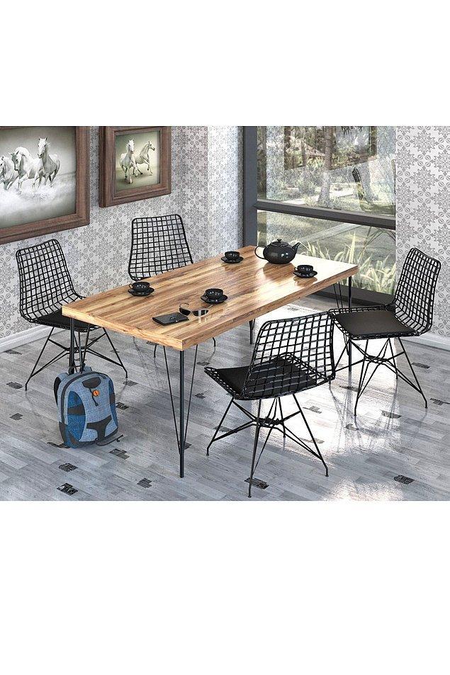 21. Mutfak masası da çok tarz!
