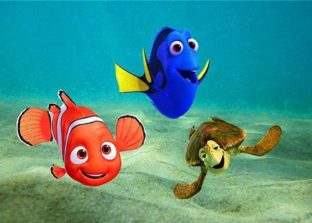 3. Kayıp Balık Nemo filmi balıkların doğal ortamlarından koparılmasına tepki çeken bir film olmasına rağmen akvaryumların kurulma sayısı filmden dolayı üç katına çıkmıştır.
