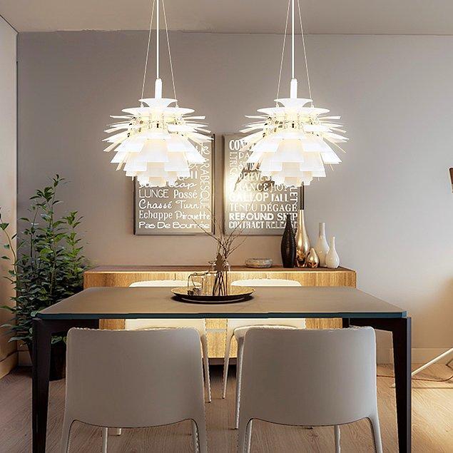 3. Başka bir yemek odası için kullanılan avize modeli.