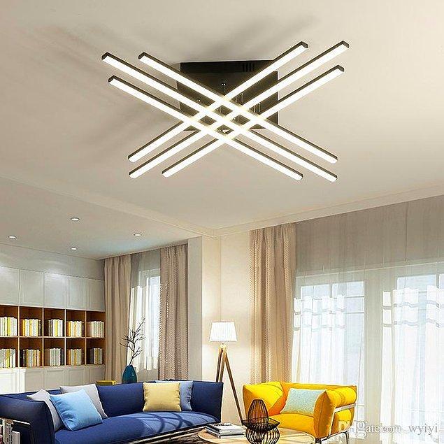 6. Böyle bir avize, odanızın tüm havasını değiştirme konusunda oldukça iddialı.