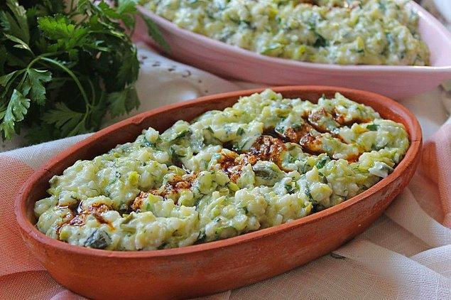 7. Hafif mi hafif: Pirinçli kabak