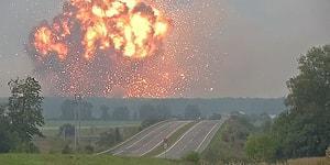 Birçok Haber Kanalı, Sakarya'daki Havai Fişek Fabrikasının Patlama Anı Diyerek Ukrayna'da Meydana Gelen Başka Bir Patlama Görüntüsünü Servis Etti