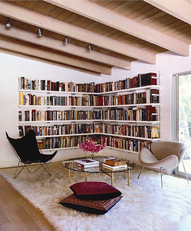 5. Bir odasını kütüphane yapmak isteyenler için hoş bir fikir olabilir.
