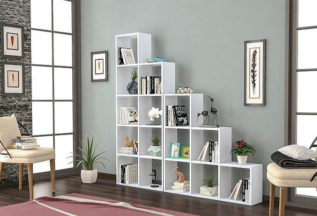 6. Ben odamda modern bir kitaplık kullanmak istiyorum diyenleri de unutmadık.