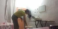 Görme Engelli Kedisine Çıktığı Masadan İnmeyi Öğreten Müthiş İnsan