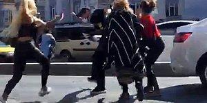 İstanbul'da Dört Kadın Bir Adamı Tekme Tokat Dövdü