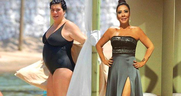 16. Işın Karaca tüp mide ameliyatı sonrası 105 kilodan 60 kiloya düşerek inanılmaz bir değişime imza attı.