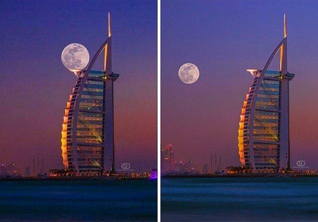 2. Bu görselde de ayın normal konumu ile oynanmış.