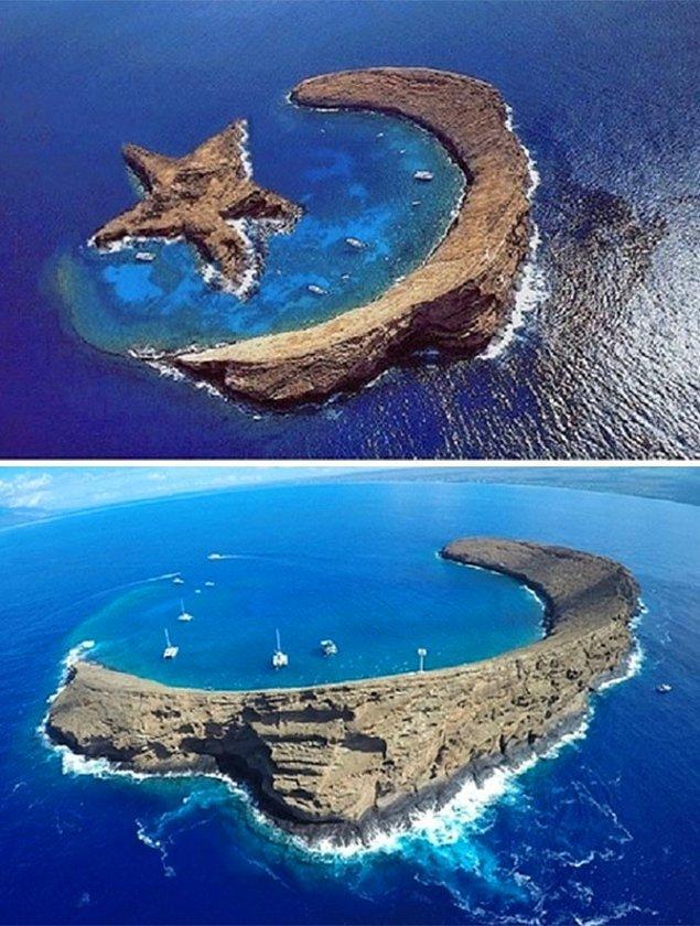 15. Hepimizin bir dönem karşılaştığı bu adalarsa aslında tamamen gerçek değiller. Yıldız şeklindeki ada daha sonra montajla eklenmiş.