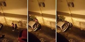 Arabanın Yanına Tuvaletini Yapmaya Çalışan Kadın Hayatının Şokunu Yaşadı