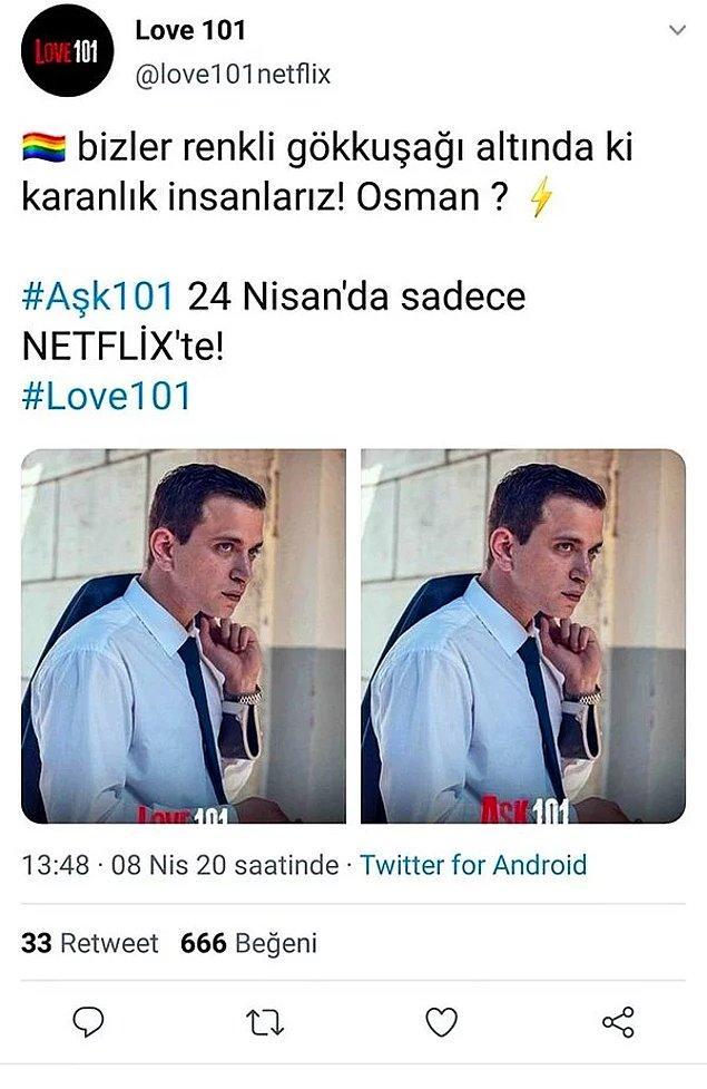 Bu iddiaların ortaya atılmasıyla birlikte hem sosyal medya hem de Netflix tarafı bir miktar karışmış, Twitter'ın trolleri Osman'ın eşcinsel olmasının Türkiye'de pek çok erkeği etkileyebileceğini ifade etmişti.