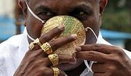 Koronavirüsten Korunmak İçin 26 Bin Liralık Altın Maske Yaptıran Adam