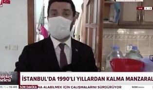 A Haber'in 'İstanbul'da Su Kesintisi' Haberinde Çamaşır Makinesinin Çalışması Sosyal Medyanın Gündeminde