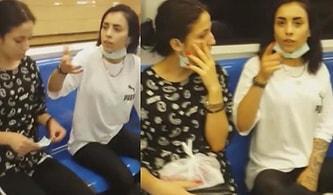 Kadıköy Metrosunda Maske Takmayan Kadınlar, Kendilerini Uyaran ve Videoya Çeken Kişiye Saldırdılar