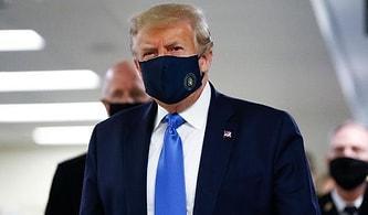Günlük 70 Bin Yeni Vakanın Görüldüğü ABD'de Trump İlk Defa Maske Taktı