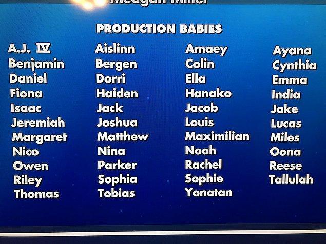 6. Pixar filmlerin yapım sürecinde ekipte doğan her bebeğin adını film sonunda katkı sağlayanlar listesine ekler.