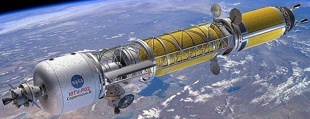11. NASA yürüttüğü araştırmalarla gök taşlarını etkisiz hale getirmenin en iyi yolunun nükleer patlamalar olduğunu ortaya çıkardı ve bu tarz görevlere uygun uzay gemileri tasarladı.