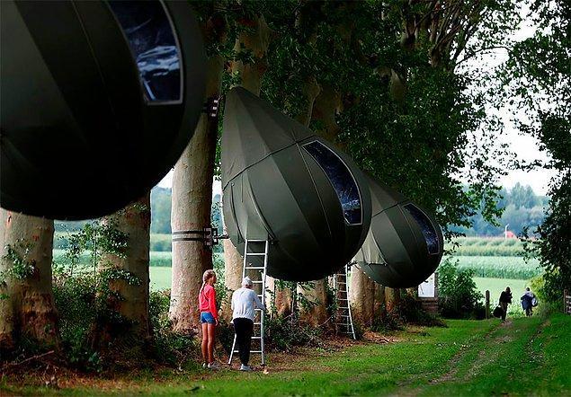 Gözyaşı çadırları, Belçika'nın Limburg eyaletinde turizm amaçlı kullanılmaya başlandı.