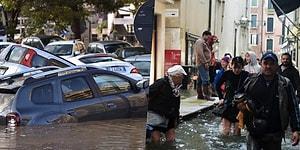 İtalya'da Dün Meydana Gelen ve 2 Kişinin Ölümüne Yol Açan Sel Felaketinden Dehşet Verici Manzaralar