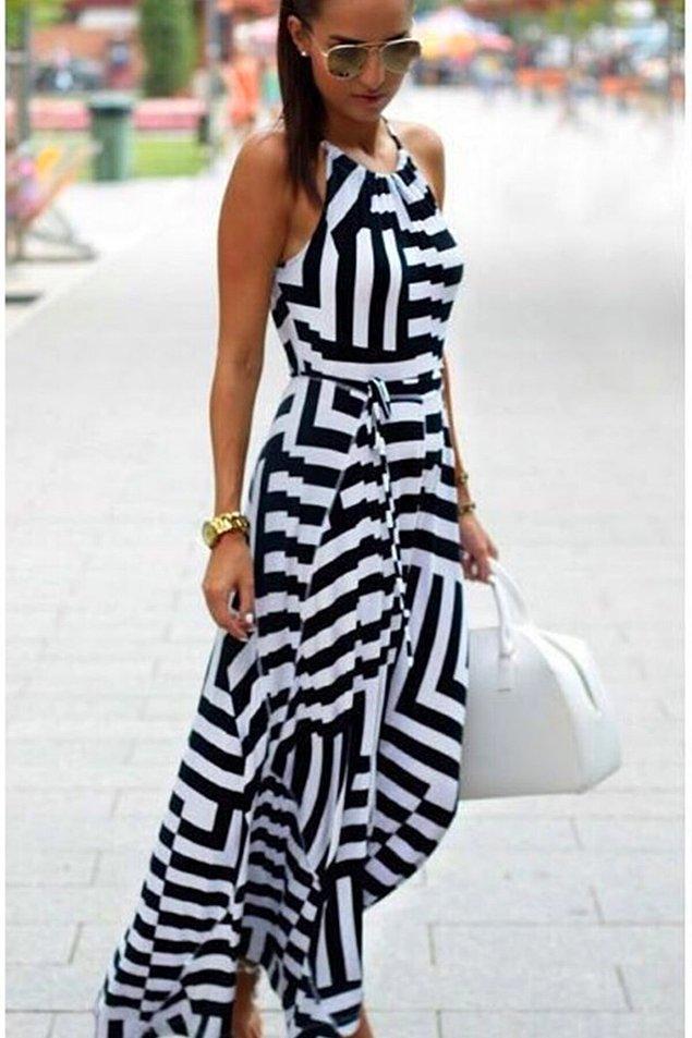 6. Bu elbise de çok beğendiklerim arasında. Bütün yaz üzerinizden çıkarmadan giyebileceğiniz rahatlıkta bir elbise.