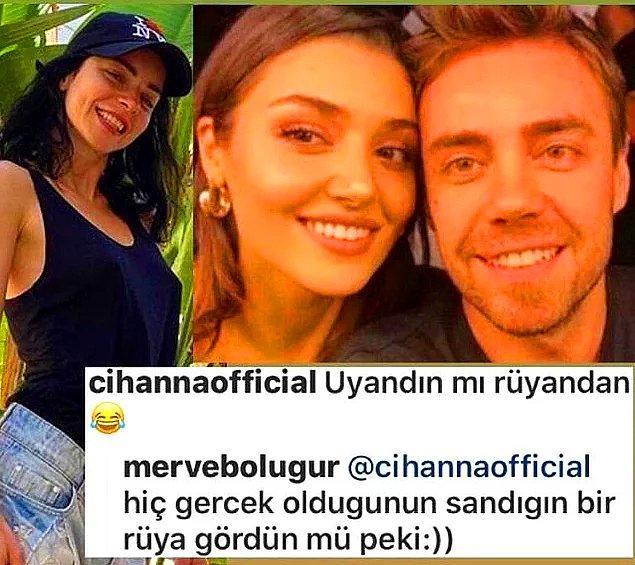 7. Merve Boluğur da eski eşi Murat Dalkılıç ile sevgilisi Hande Erçel'in ayrıldığını duyunca; bomba bir gönderme yaptı!
