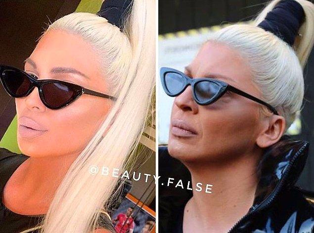 3. İlk fotoğrafta gözlükler de mi shop?
