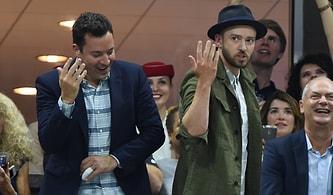 Kameranın Kendilerini Çektiğini Fark Edince Dans Etmeye Başlayan Jimmy Fallon ve Justin Timberlake