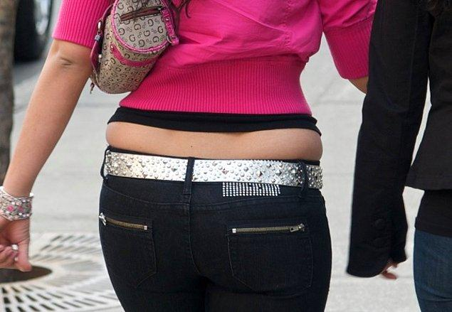 En önemli sorun ise düşük bel pantolonla bel simitlerinin belirginleşmesi.