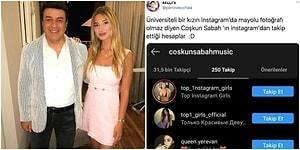 Coşkun Sabah Bikinili Poz Yüzünden Kızının Instagram'ını Kapattığını Söyledi Ama Kendisinin Takip Ettiği Hesaplar da Şaşırttı