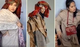 Zara'nın Garip Garip Pozlar Veren Modellerini Ti'ye Alan Kadın