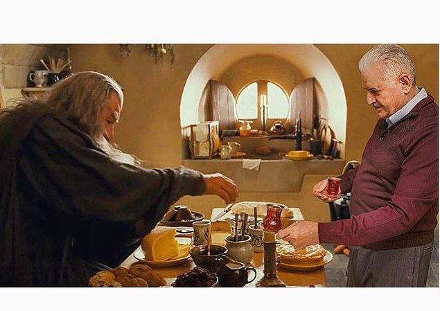 13. Çay içer misin Bay Gandalf?