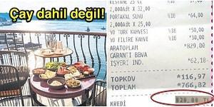 İstanbul'daki Bir Otelde Kahvaltı İçin Ödenen Hesabın Fişini Görünce Gözleriniz Yuvalarından Çıkacak