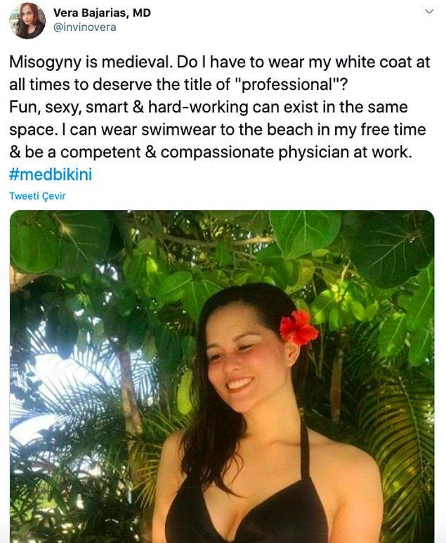 """""""Kadın düşmanlığı Orta Çağlıktır. Profesyonel unvanını hak etmek için her daim beyaz önlüğümü giymek zorunda mıyım?"""