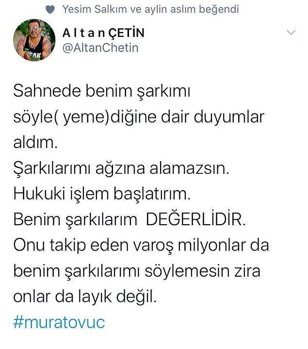 7. Aslı Zen ve Altan Çetin gibi isimlerden Murat Övüç'e şarkı ambargosu geldi!