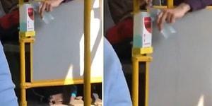 Otobüsteki Dezenfektanı Kendi Şişesine Dolduran Yurdum İnsanı