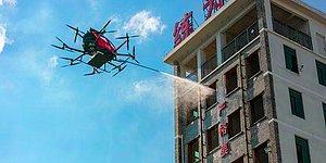 Çinli Şirket Yangınlarda Kullanılmak Üzere Uzaktan Kontrol Edilebilen Yangın Söndürme Drone'u Üretti