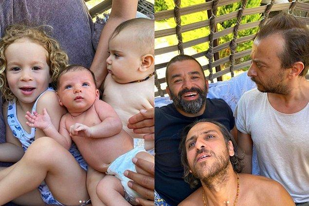 5. Ali Atay, Bülent Şakrak ve Erkan Kolçak Köstendil'in oğullarıyla aynı pozu vererek paylaştıkları fotoğraf sosyal medyada büyük ilgi gördü!