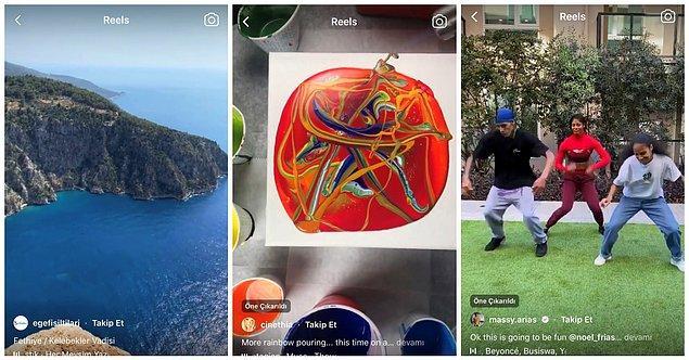 Reels, Instagram'da 15 saniyeye kadar kısa videolar oluşturmanıza olanak tanır. Reels videolarına müzik ve efekt de ekleyebiliyorsunuz.