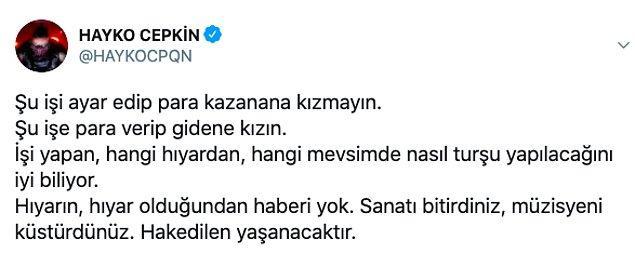 Tüm gelen bu tepkiler sonrasındaysa Murat Övüç, bugün bir açıklama yaptı...